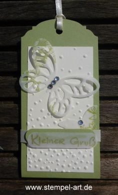 Mini cards to stamp type Stampin up, punch Elegant pendant, mini punch butterfly… Butterfly Template, Butterfly Cards, Flower Cards, Paper Tags, Paper Gifts, Creative Bookmarks, Birthday Tags, Handmade Gift Tags, Book Markers