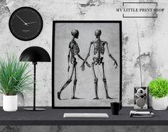 Vintage Skeletal Anatomy, Skeleton, Human Body, Bones, Anatomy Poster, Anatomy