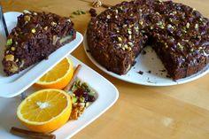Vegan Chocolate Walnut Cranberry Coffee Cake with Pistachios Greek Desserts, Greek Recipes, Party Desserts, Greek Cooking, Cooking Time, Healthy Cooking, Cooking Recipes, Healthy Food, Think Food