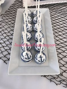Nautical Cake Pops, Nautical Baby, Nautical Wedding, Camo Wedding, Nautical Theme, Cake Decorating For Kids, Cake Drawing, Chocolate Covered Marshmallows, 1st Boy Birthday