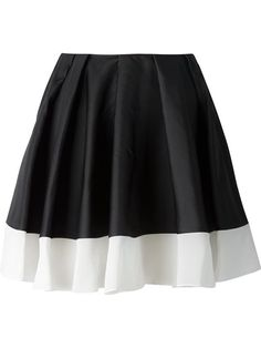 Viktor & Rolf Pleated a-Line Skirt Black Pleated Mini Skirt, Black A Line Skirt, A Line Mini Skirt, A Line Skirts, Short Skirts, Mini Skirts, Skirt Pleated, Layered Skirt, Silk Skirt