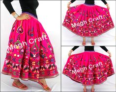 Designer  Embroidered Rabari Skirt Retail : https://www.craftnfashion.com Whatsapp : 9375519381 E-mail : craftnjewelery@gmail.com