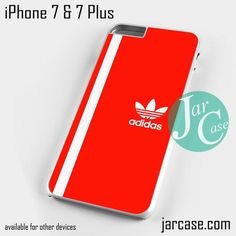 white line adidas red Phone case for iPhone 7 and 7 Plus