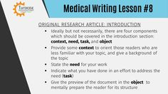 #TSDP provides #PublicationsMedicalWritingTraining for preparation of original research articles.