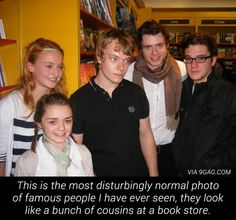 The Game of Thrones cast <3 Looking normal