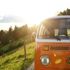 Kissed by the sun. The classic Volkswagen Microbus is not only a symbol for freedom and the hippie lifestyle, it's also associated with good times and great moments – just like the moment this photo captures.