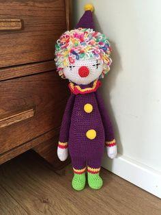clown mod made by Evi / based on a lalylala crochet pattern