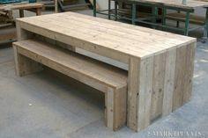 Stoere steigerhouten tafel