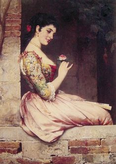 The Athenaeum - The Rose (Eugene de Blaas - )