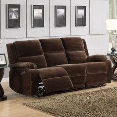 @Overstock - Settle in for a night of TV viewing or friendly conversation in this cozy brown velvet sofa, part of the Angus Collection. The microfiber surface will leave you unable to resist touching it, and the double reclining feature makes this sofa extra fun.http://www.overstock.com/Home-Garden/Angus-Coffee-Brown-Velvet-Sofa/7252378/product.html?CID=214117 $575.99