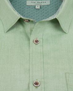 Oxford shirt - Mid Green | Shirts | Ted Baker