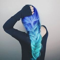 Beautiful Ombre braided hair - http://ninjacosmico.com/28-crazy-hairstyles-ideas/