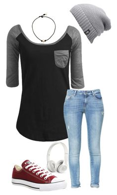 """""""PSAT tomorrow 😫"""" by ivoryvixen on Polyvore featuring Wet Seal, Zara, Converse, The North Face and Beats by Dr. Dre"""