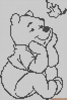 Alpha friendship bracelet pattern 1105 braceletbook com Crochet Pixel, Graph Crochet, Filet Crochet Charts, Knitting Charts, Crochet Blanket Patterns, Cross Stitch Baby, Cross Stitch Animals, Disney Cross Stitch Patterns, Cross Stitch Designs