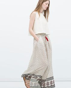 Image 4 of LONG PRINTED SKIRT from Zara