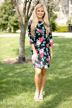 Get Lost In Your Eyes Floral Dress - The Pink Lily