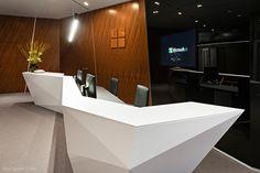 New 2018 Z shape artificial stone salon reception desk Salon Reception Desk, Reception Desk Design, Lobby Reception, Reception Counter, Office Reception, Reception Areas, Architecture Panel, Concept Architecture, Interior Architecture