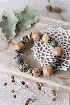 """Купить Браслет """"Песнь весны"""" - зеленый, зеленый браслет, браслет с камнями, браслет с яшмой"""