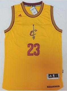 b9128658598 Cheap NBA Jersey: NBA Cleveland Cavaliers #23 Lebron Yellow 2014 Christmas  Style Jerseys