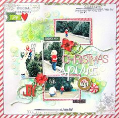 My Creative Scrapbook December Main kit created by Missy Whidden.