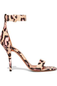 700c8e3da6e3 Givenchy - Retra leopard-print textured-leather sandals. Strap HeelsStrappy  Sandals HeelsAnkle ...