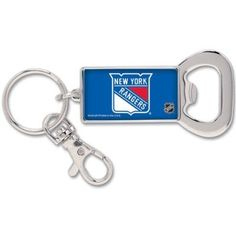 New York Rangers Bottle Opener Metal Keychain by NHL. $6.70. This officially licensed Bottle Opener Key Ring is made with nickel plated brass. Includes a domed logo and a convenient clip. A terrific gift idea. Decorated in the USA