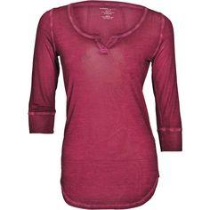 Majestic U Neck 3/4 Sleeves Top Violet ($135) ❤ liked on Polyvore