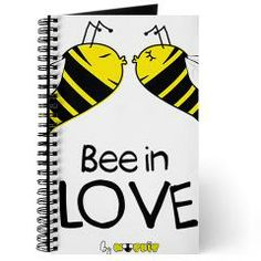 Bee in love journal: Stay organized with our custom journal, available with your choice of 4 different paper options so you can manage all your note-taking needs. #journal #inlove #bee #beeinlove #diari #note #school #collage #paper