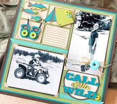 Call of the Wild Scrapbook Layout Page. Make It Now in Cricut Design Space