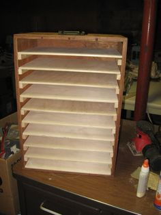 Puzzle board storage box. Just the right size!! Homemade by dad/mom!!