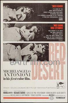 Happy Birthday #MichelangeloAntonioni https://eartfilm.com/search?q=antonioni #directors #filmmakers #filmmaking #screenwriters #screenwriting #movie #movies #poster #posters #film #cinema #movieposter #movieposters    Red Desert-Il Deserto Rosso-1964-27x41-Michelangelo Antonioni-Monica Vitti