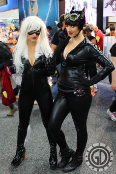 Black Cat and Catwoman