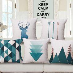 Gaya Nordic Rusa Geometris Bantal Meliputi Gunung Panah Kasus Bantal Linen Katun bantal Selimut Tidur Sofa Dekorasi