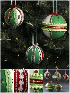 Felt And Ribbon Ornaments | 36 Adorable DIY Ornaments You Can Make With The Kids
