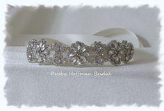 Rhinestone Crystal Bridal Headband by DebbyHoffmanBridal on Etsy