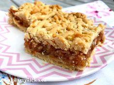Šťavnatý jablečný koláč z křehkého těsta Apple Pie, Tiramisu, Sweet Tooth, Goodies, Food And Drink, Treats, Baking, Desserts, Recipes