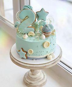 Twin Birthday Cakes, Baby First Birthday Cake, Truck Birthday Cakes, Creative Cake Decorating, Baby Girl Cakes, Beautiful Birthday Cakes, Crazy Cakes, Breakfast Cake, Pastry Cake