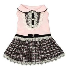 Lou Lou Dress by Ruff Ruff Couture USA<br /> <div>Get girly this season with the Ruff Ruff Couture® Lou Lou Dress. Combining white lace, black velvet and beautiful boucle, your pretty little pooch is sure to look prim and precious from Paris to the Plaza Hotel! Proudly made in the U.S.A. <br /> <br /> All costumes are hand picked and imported exclusively by Coco