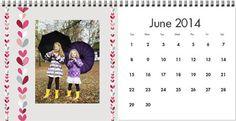 Custom Photo Signature Desk Calendar - Joy of Seasons