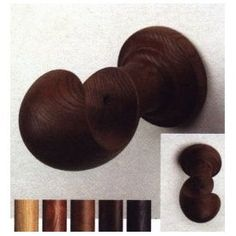 """European wood brackets for use with 2 1/4"""" wooden curtain rods"""