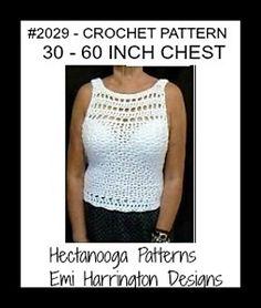 431f1a6aab2d 2029- White Summer Top pattern by Emi Harrington. Crochet Shrugs
