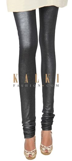 Buy Online from the link below. We ship worldwide (Free Shipping over US$100) Price- $19 Click Anywhere to Tag http://www.kalkifashion.com/black-shimmer-cotton-hosiery-legging-only-on-kalki.html