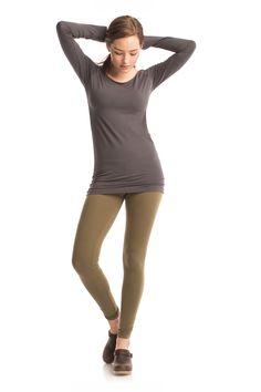 Essential Hannah Legging in Burnt Olive