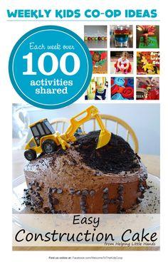 {Oreo Construction Birthday Cake} So cute, so simple.
