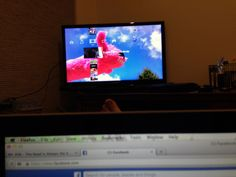 Day 57 Big Toe - In desperate times take a picture of your big toe and your TV!