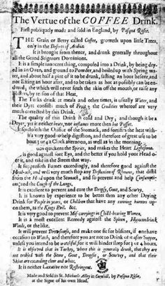 """First Coffee Ad"", 1652"