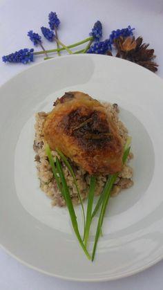 Pečené kuře s fazolemi