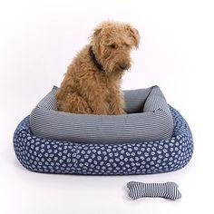 "Paige Denim ""Rose"" Bolster Dog Bed Small #Dogs | #McCoryInteriors | #MI"