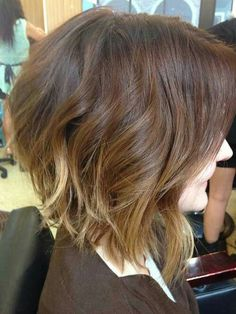 Short Haircuts 2014, Short Hairstyles For Women, Bob Hairstyles, Trendy Haircuts, Brunette Bob Haircut, Haircut For Thick Hair, Brunette Hair, Brunette Ombre, Styles For Thick Hair