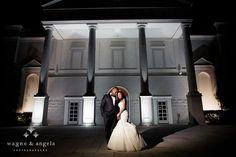 bride and groom night portraits